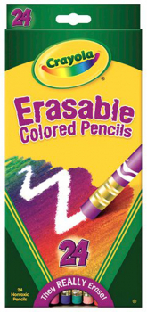 Crayola Erasable Colored Pencils 24 Count