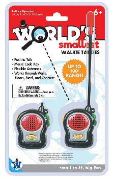 World's Smallest Electronic Walkie Talkies