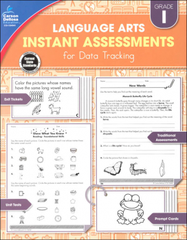 Language Arts Instant Assessments for Data Tracking - Grade 1