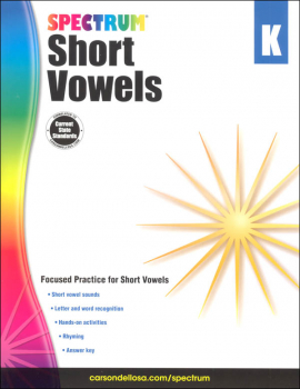 Spectrum Short Vowels - Grade K (Spectrum Early Learning)