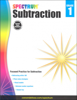 Spectrum Subtraction - Grade 1 (Spectrum Early Learning)