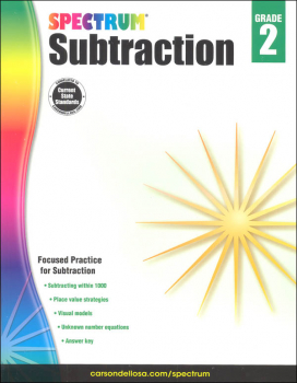 Spectrum Subtraction - Grade 2 (Spectrum Early Learning)