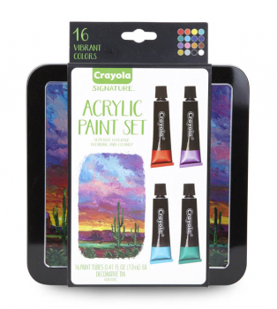 Crayola Signature Acrylic Paint in Tin (16 count)