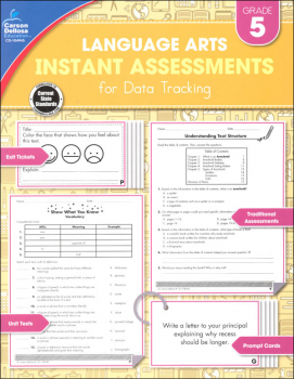 Language Arts Instant Assessments for Data Tracking - Grade 5