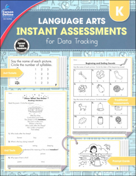 Language Arts Instant Assessments for Data Tracking - Kindergarten