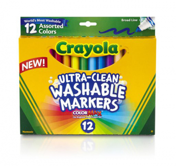Crayola Ultra-Clean Washable Broad Line Markers 12 Count