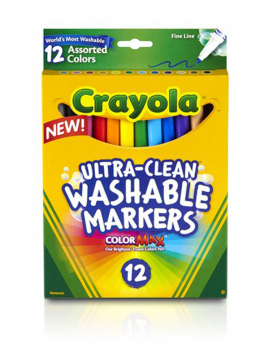 Ultra-Clean Washable Fine Line Markers 12 Count