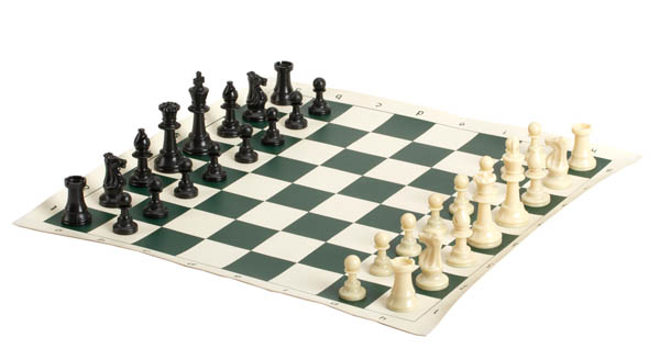 "Vinyl Roll Up Tournament Chess Set (20"")"