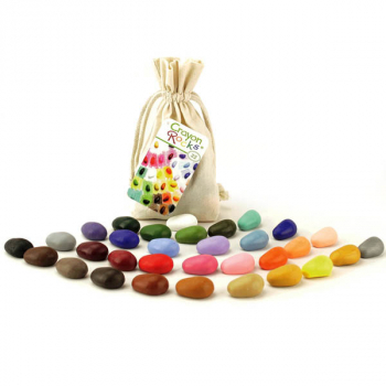Crayon Rocks - 32 Colors in Muslin Bag