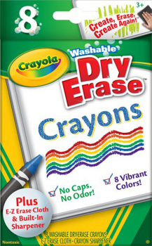 Crayola Washable Dry Erase Large Crayons - 8