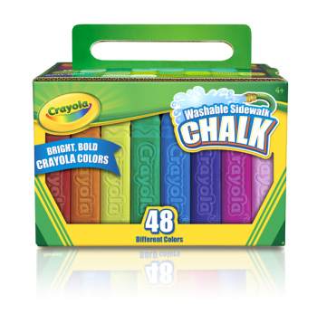 Crayola Washable Sidewalk Chalk Pack 48 Count