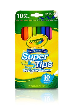 Crayola Super Tips Washable Fine Line Markers 10 Count
