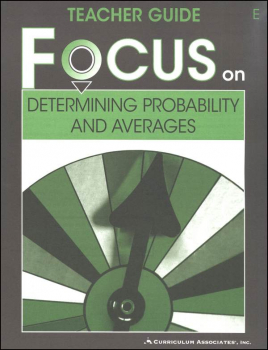 Determining Probability and Averages Teacher Guide E
