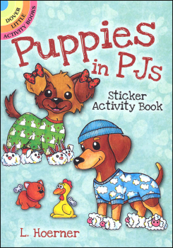 Puppies in PJs Stickers