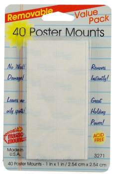 40 Removable Poster Mounts