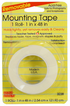 "Removable Mounting Tape (1"" x 48"")"