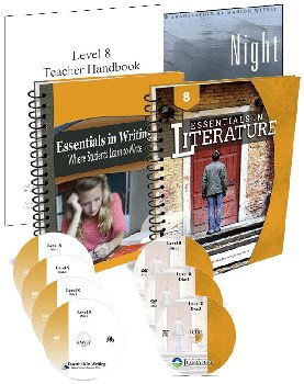 Essentials in Writing and Literature Level 8 Bundle with DVDs