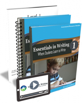 Essentials in Writing Level 1 Bundle with Assessment (Online Video Subscription, Textbook, Teacher Handbook and Assessme