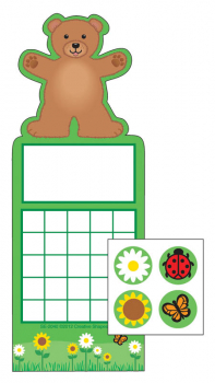 Teddy Bear Personal Incentive Charts and Stickers
