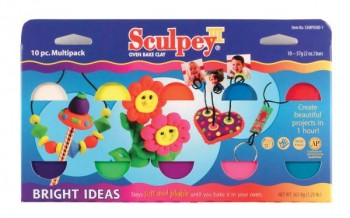 Sculpey III Multipack - Bright Ideas (10-Pack of 2 oz. Bars)