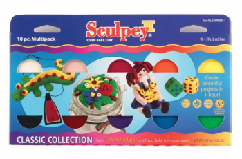 Sculpey III Multipack - Classic Collection (10-Pack of 2 oz. Bars)