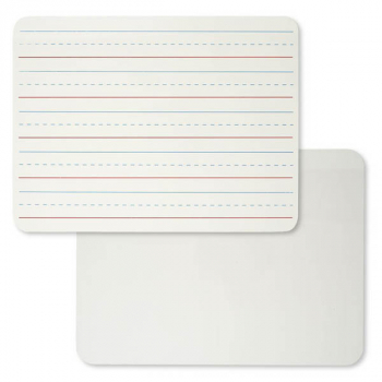 "Dry Erase Board - Lapboard - Masonite 9"" x 12"" Plain/Lined White 2-Sided"