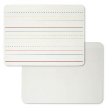 "Magnetic Dry Erase Lapboard: 2-Sided Plain/Lined 9"" x 12"""
