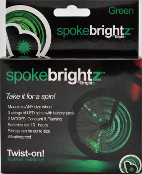 Spoke Brightz Bike Light - Green