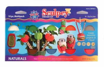 Sculpey III Multipack - Naturals  (10-Pack of 2 oz. Bars)