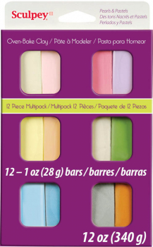 Sculpey III Multipack - Pearl and Pastel  (10-Pack of 2 oz. Bars)