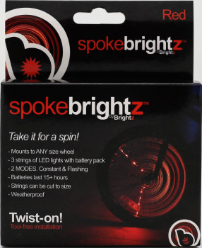 Spoke Brightz Bike Light - Red