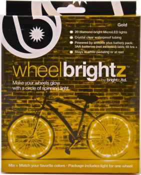 Wheel Brightz Bike Tire Lights - Gold