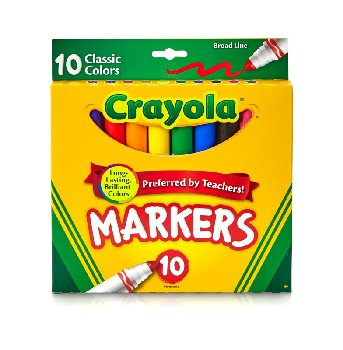 Crayola Broad Line Markers Classic 10 Count
