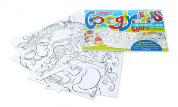 Googly Eyes Coloring Pad Goofy Animals