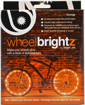 Wheel Brightz Bike Tire Lights - Orange