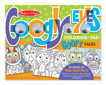 Googly Eyes Coloring Pad Goofy Faces