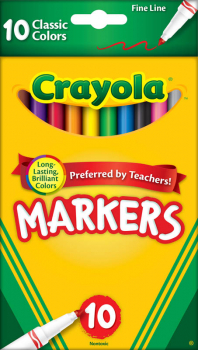 Crayola Fine Line Markers Classic 10 Count