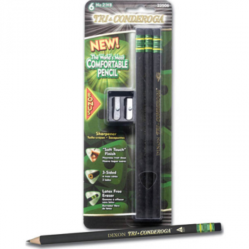 Tri-conderoga Pencils #2 with Sharpener (6 count)