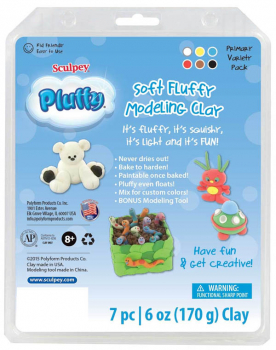 Sculpey Pluffy Variety Pack - Primary