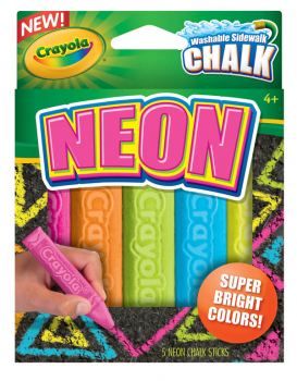 Crayola Washable Neon Sidewalk Chalk