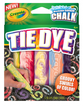 Crayola Washable Tie Dye Sidewalk Chalk