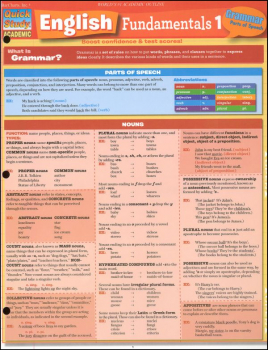English Fundamentals 1 Laminated Guide