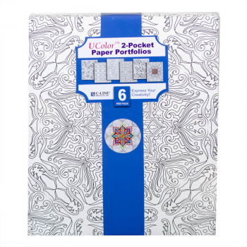 Ucolor Two-Pocket Paper Folders - 6 Adult Designs