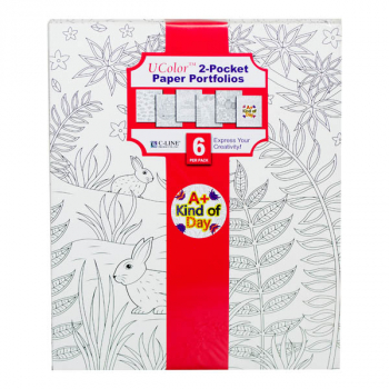 Ucolor Two-Pocket Paper Folders - 6 Child Designs