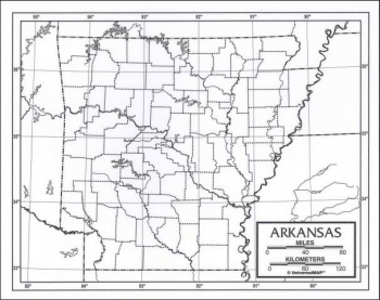 "Arkansas Map Paper single (8+"" x 11"")"