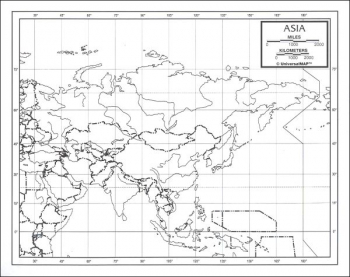"Asia Map Paper single (8+"" x 11"")"