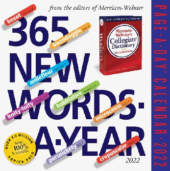 365 New Words-A-Year Page-A-Day 2021 Calendar