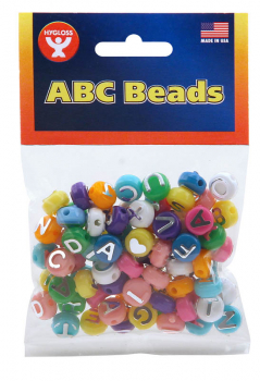 Colored ABC Beads (80 Beads)