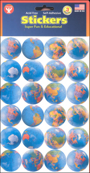 Globe Stickers (3 Sheets)