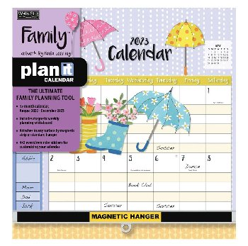 Family Plan-It Wall Calendar (August 2020 - December 2021)